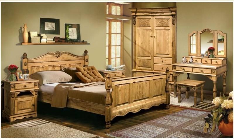 Спальня ВИКИНГ GL (сосна старение) Лидская.